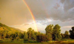 Double Rainbow over Star Valley Ranch